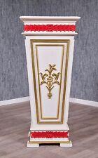 Barock Pflanzensäule Blumenständer Stil Antik Massiv weiß gold rot Vintage