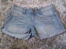 Ladies Denim Mini Shorts Size UK 8