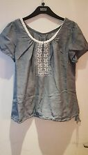 BNWT LADIES M&S WOMAN SHORT SLEEVED PURE COTTON TOP SIZE: 18
