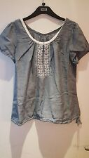 BNWT LADIES M&S WOMAN SHORT SLEEVED PURE COTTON TOP SIZE: 14