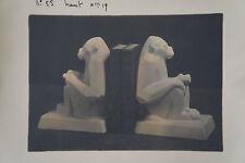 """OCTAVE LARRIEU (1881/1965)  """"  SERRE LIVRES SINGE CUBISANT """"  ART DECO"""
