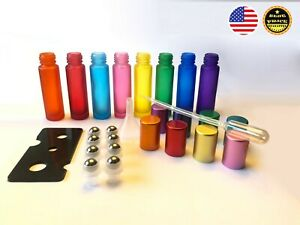 8PK 10ml Multi-Color Glass Roll-on Bottles,Stainless steel ball for Aromatherapy