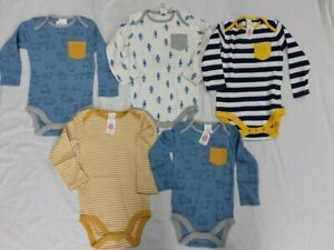Mini BODEN Body Suit Vest Boys Girls Various Patterns Colours 5 Pack NB to 2/3yr