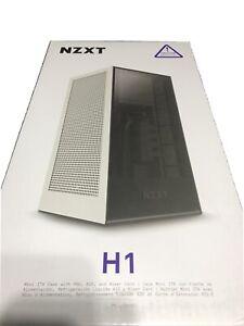 NZXT H1 Mini-ITX Gaming Case - Matte White
