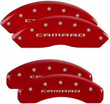 MGP Red 6061-T6 Aluminum Caliper Covers for 16-20 Chevrolet Camaro LT / LS / RS