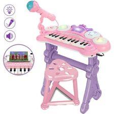 Pianola Tastiera Giocattolo Bambini 24 Tasti Microfono Attacco Mp3 e Supporto