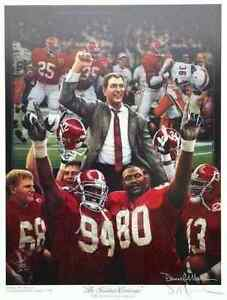 """Daniel Moore """"The Tradition Continues"""" Alabama Football Lithograph Print"""