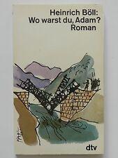 Heinrich Böll Wo warst du Adam Roman dtv Verlag +
