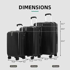 3PCS Luggage Travel Set Trolley Suitcase w/TSA Lock Colors Home Organizer New