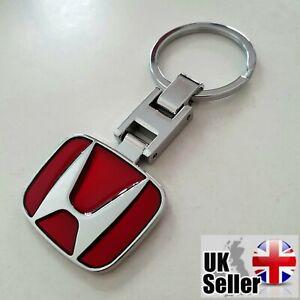 Honda Quality Chrome Keyring Deep Metallic Red Civic EP2 EP3 Type-R - UK Seller