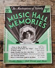 Music Hall Memories Part 8 Sheet Music & History of Variety - Vesta Victoria