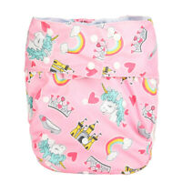 Adult Cloth Diaper Nappy Teen Reusable Incontinence Unicorn