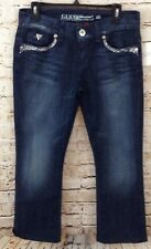 GUess jeans womens 30 x 28 New daredevil boot cut low rise spellout embellished