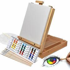 Set di pittura in valigetta, Cassetta e cavalletto, Colori acrilici e pennelli