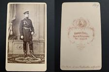 Krull, Neu-Strelitz, officier à identifier Vintage albumen carte de visite, CDV.