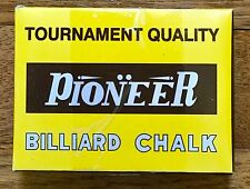 Pioneer Tournament Quality Billiard Pool Chalk Standard Blue12 Cubes New Sealed