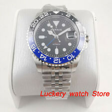 bezel Sapphire crystal Automatic watches Parnis 40mm Men watch Gmt Ceramic