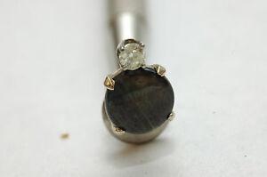 Black Star Saphire & Diamond Tie Tack
