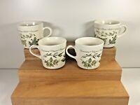 Vintage lot of 4 Corelle Coordinates Stoneware Thymeless Herbs Coffee Tea Cups
