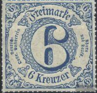 Thurn und Taxis 53 mit Falz 1866 Ziffer
