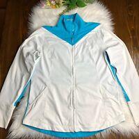 Nike Golf Dri Fit Women's Run Athletic  Track Jacket Full Zip Size Large