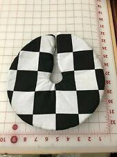 """10"""" Checkered fLag Christmas Tree Skirt made4u Winning Flag Check"""