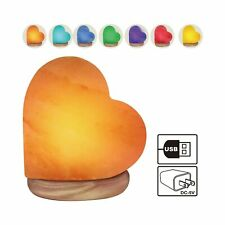 Himalayan Glow 944AC USB Heart Salt Lamp, Multicolor Night Light Brownorange