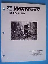 MQ Whiteman  Power Trowel BRT Parts List   PN 2763 5/95