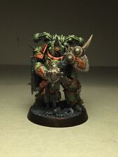 40k Death Guard Plague Marine W/ Mace Of Contagion And Bubotic Axe *painted*