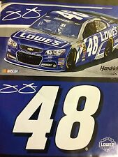 Jimmie Johnson Lowe's Double Sided 3' By 5' Flag Free Shipping  # 48