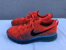 EUC Nike Air Max Flyknit Size US 9 620469 600 Bright Crimson Black Photo Blue A