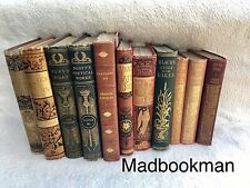 Job Lot of 40 Vintage Antique Books  *QUALITY* Goldleaf Spines Objet D'art