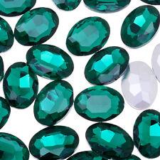 Oval Pointed Back Rhinestone Crystal Stone Jewelry Stones Decoration 50pcs 10183857-10*14mm WhiteAB