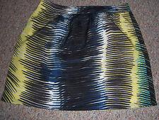 "ANN TAYLOR LOFT Colorful Short 18"" Above Knee Full Skirt No Slits 10P 10 Petite"