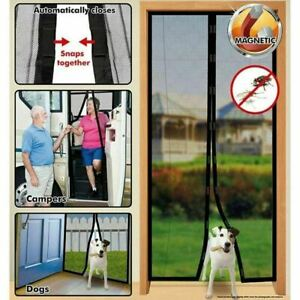 Magic Curtain Door Mesh - Magnetic Hands Free Fly Mosquito Bug Insect Screen