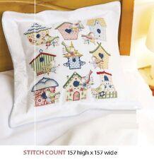 Birdhouse Cushion Cross Stitch Pattern Only Als - Qa