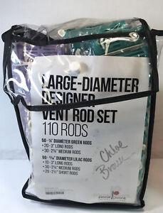 Pivot Point Large Diameter Designer Vent Rod Set 110 Hair Rods Unopened