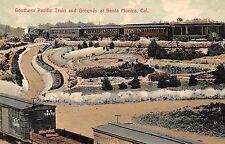 Santa Monica California Southern Pacific Train & Grounds Antique PC (J37528)