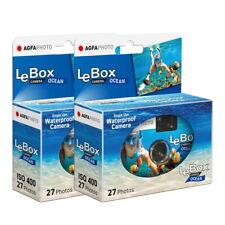 2x AgfaPhoto LeBox Einwegkamera Ocean 400 ISO/ASA 27 Aufnahmen