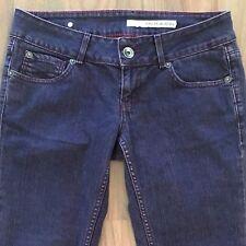 DKNY Womens Jeans Skinny Low Rise Purple Wash Denim 32x28 Size 27