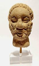 TETE DU GANDHARA EN CALCAIRE 2° S. AV JC. ANCIENT GANDHARAN LIMESTONE HEAD 200BC