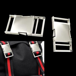 25/30mm Metal Silver Buckles Webbing Strap Bag Fastener Side Release Clasp Clip