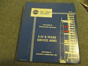 1965 NASA APOLLO/SATURN V LAUNCH SYSTEMS PAD 39 UMBILICAL/GROUND SUPPORT MANUAL