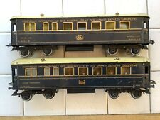 Hornby O Gauge CIE Wagon Lits Riviera Blue Coaches Dining & Sleeping Cars