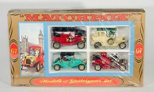 Matchbox G-7 'Models Of YesterYear' Gift Set. 4 cars. Ex-shop-stock sealed! 60's