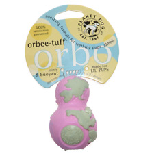 Planet Dog Orbee-tuff Great for Teething LIL' PUPS Hide Treats Buoyant Toy Pink