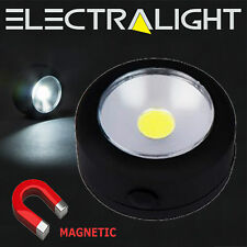 COB LED Magnetic Round Work Light Easy Cupboard Lights Stick On Self Adhesive