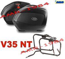 KIT VALIGIE V35 NTECH + TELAIO YAMAHA FZ6 600 FAZER 04-06 BORSE V35NT + PLX351