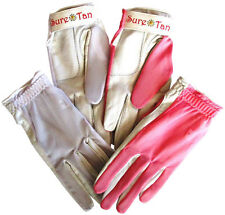 Cabretta Leather Golf Glove Sure Tan Through Mesh Back Sun Ladies Small - Large
