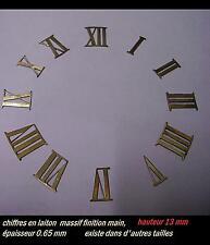 Chiffres en LAITON 16 mm pour cadran pendule  photo non contractuelle